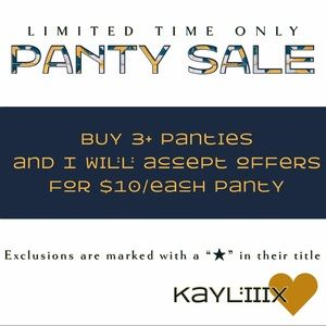 VICTORIA'S SECRET PANTY SALE! LIMITED TIME ONLY